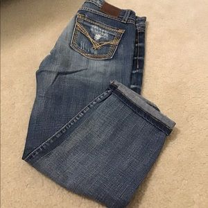 "BKE ""Sarah"" distressed crops, size 27"
